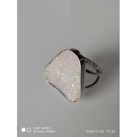 Кольцо с друзой агата.