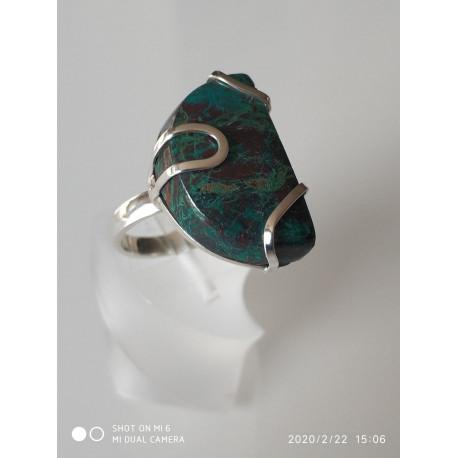 Кольцо с эйлатским камнем.
