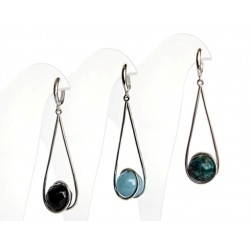 "Earrings ""Comet"" with natural stones"
