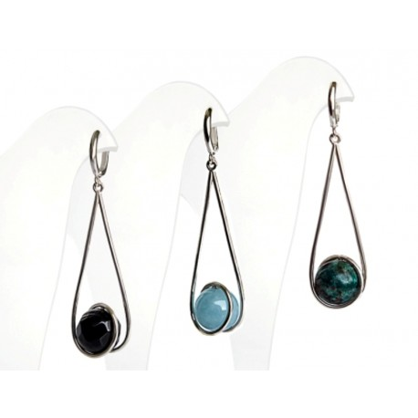 """Earrings """"Comet"""" with natural stones"""