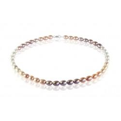 Ожерелье с овальным жемчугом