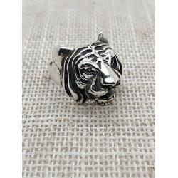 """Кольцо серебряное """"Тигр""""."""