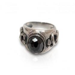 טבעת לגבר עם אבן המטיית ועם נחש