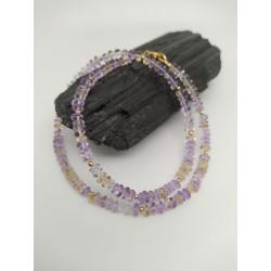 Ожерелье с аметрином.
