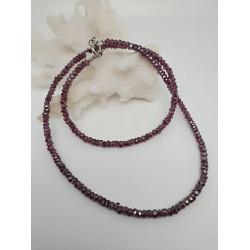 Ожерелье с родолайтом.