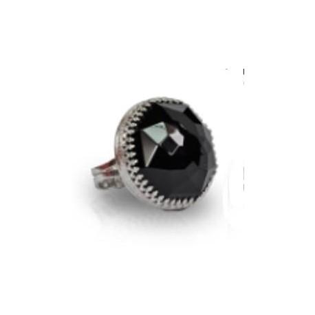 טבעת עם אוניקס שחור